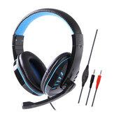 Soyto SY755MV Jogo com fio de 3,5 mm fone de ouvido baixo fone de ouvido de jogos fone de ouvido estéreo Fones de ouvido com microfone para computador pc gamer