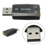 Externe USB 2.0 voor 3D Virtual Audio Geluidskaart Adapter Converter 5.1CH