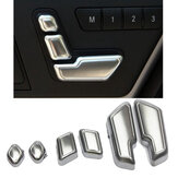 Matt Chrome Door Seat Adjust Switch Button For Mercedes-Benz