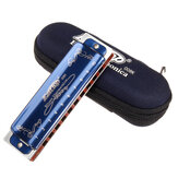 Easttop T008K 10 Hole Blues Harmonica Tone C Color azul para principiantes