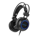FOREV FV-G93 Gaming Headset 7.1 Channel 50mm Driver Stocking Stereo Sound RGB Cool Light Noise Reduction Microphone for ps4 Xbox