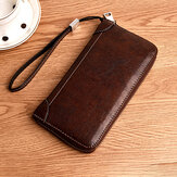 Men Retro PU Long Wallet Card Holder 5.5 Inches Phone Bag