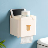 Jordan&Judy 3 in 1 Waterproof Wall Mounted Bathroom Tissue Box Roll Issue Facial Tissue Dispenser Adhesive Hanging Cell Phone Holder
