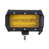 5 Inch 72 W 1300LM LED Werklamp Flood Spot Combo Mistlamp Amber voor Jeep Offroad SUV Boot
