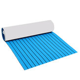 240x90cm EVA Foam 5/6mm Blue With Black Lines Boat Flooring Faux Teak Decking Sheet Pad