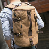 Men Canvas Travel Backpack Multi-function With USB Charging Handbag Shoulder Bag Cross Body Bag