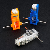 1:28 Transparant / Blauw / Oranje Zeshoekige As 130 Motorreductor voor DIY Chassis Car Model