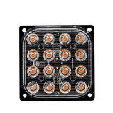 48W 16-LED Side Strobe Light Flash Light Aluminum White/Yellow/Red/Blue DC 12V-24V For Car SUV Vans Trucks