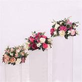 38 cm Seide Rose Pfingstrose Künstliche Blume T Station Stehen Hintergrund Hochzeitsdekor Liefert