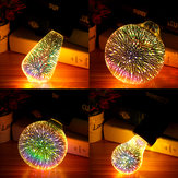 E27 6W Colorful Vacaciones de Navidad 3D LED Firework Light Home Decorative Lámpara LED Bombilla