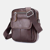 Bullcaptain Mannen Echt Leer Multifunctionele Waterdichte Anti-diefstal Multi-Layers Casual Crossbody Tas Schoudertas
