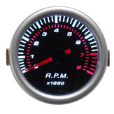 Universal Car 52mm 2 polegadas Counter Tacho Tachometer Gauge Pointer RPM Branco LED 12V