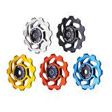 ZTTO 11T 4/5 / 6mm Cerâmico Rolamento Liga de alumínio MTB Desviador traseiro de bicicleta Desviador traseiro de bicicleta de roda Cerâmico Rolamento