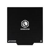 SIMAX3D® شريط سرير طباعة مغناطيسي 235/310 مللي متر ملصق سرير حراري أسود قاعدة مغناطيسية للطابعة ثلاثية الأبعاد
