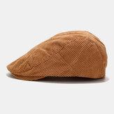 Unisex de pana Casual de todo fósforo de color sólido hacia adelante Sombrero Boina Sombrero