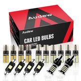 Audew 16PCS T10 C5W T15 / 912/921 LED Canbus Car Dome Luz do mapa interior lâmpada da placa de licença