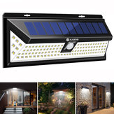 AUGIENB Garden Wall Light 118LED Solar PIR Motion Sensor Outdoor Waterproof Lamp