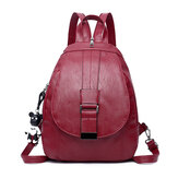 Leather Backpack Travel Camping Shoulder Bag Waterproof Cross body Bag School Bag Handbag