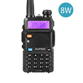 BAOFENG UV-5R Upgrade 8W 128Channels Walkie Talkie UV Dual Band Two-way Handheld Transceiver Radio Walkie Talkie Outdoor LED Flashlight FM Radio Hiking Driving Civilian Intercom