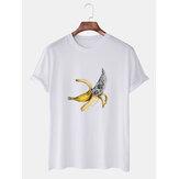 Мужские забавные мультяшные банановые футболки с короткими рукавами