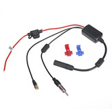 Universal DAB+ FM Car Antenna Aerial Splitter Cable Digital Radio Amplifier with SMA Connector