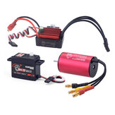 Surpass Hobby KK 2440 4600kv Brushless Motor 35A Brushless ESC 3KG Digital Servo Brushless Set for 1/16  RC Car Model Parts