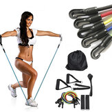 11PCS 30LBS Yoga Resistance Bands Set Home Workout Fitness Training Tubes Indoor Exercise Tools