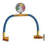 Manguera de recarga de aire acondicionado de 100 psi con manómetro AC R134A Medidor de manguera de recarga de refrigerante de 1/2 pulgada