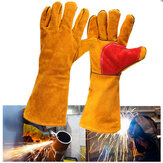 16inch Heavy Duty Lined Reinforced Palm Welding Gauntlets Welder Labor Gloves