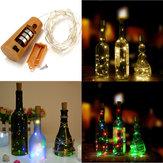 بطارية تعمل بالطاقة 8 المصابيح الفلين على شكل في الهواء الطلق الصمام ليلة النجوم ضوء زجاجة النبيذ مصباح لعيد الميلاد الحزب