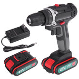 520N.m. 48V Cordless Electric Drill Driver 3/8'' Chuck Rechargeable Power Drill W/ 2pcs Battery