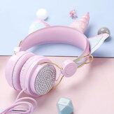 Kablolu Kulaklık Taşınabilir Katlanabilir 3.5mm Fişli Kulak Üstü Stereo Müzik Mikrofonlu Spor Kulaklık