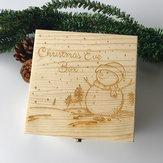 Подарочные игрушки из дерева 9595507 Рождественский снеговик Живопись