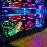 COOLMOON Napájení RGB světelná deska Počítačová skříň RGB boční panel 16 milionů RGB šasi s dálkovým ovládáním