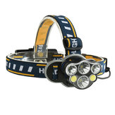 XANES 2606-6 2300LM 2 * T6 + 2 * XPE + 2 * COB Bike Bicycle Headlamp 8 режимов 2 * 18650 Батарея USB-интерфейс