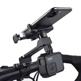 Wheel Up W-099 Extension Version Multifunctional Outdoor Vlog Recording Aluminum Alloy Motorcycle Bike Bicycle Handlebar Mobile Phone Holder Stand for Devices between 55-100mm Width