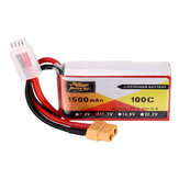 ZOP Power 11.1V 1500mAh 100C 3S Lipo Battery XT60 Plug for RC Racing Drone