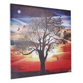 Impressão em tela de 1 peça, morcegos, pôr do sol, árvore, parede, impressão decorativa, arte, imagens, emolduradas, parede, decoração, decoração, para, home office