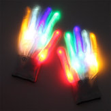 Halloween LED Handschoen Dansen Podium LED Palm Light Up Flash Vinger Tip Voor DJ Club Party Props