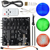 3D Light Cube Kit 8x8x8 Red Green Blue LED MP3 Music Spectrum DIY Electronic Kit