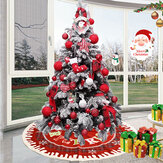 Christmas Santa Tree Mat Deken Tapijt Basis Ornament Decoratie Schort Wrap voor Indoor Outdoor Party Decor