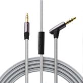 Tsumbay 1M Cavo AUX da 3,5 mm Cavo maschio / maschio Cavo audio Cavo con in linea remoto Microfono per cuffia