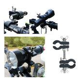 Clip de suporte para lanterna de bicicleta de alumínio giratório 360 ° Bicicleta elétrica braçadeira para BLF A6, Astrolux EC01, EC03, FT03, MF01, MF02, MF02, MF04, lanterna MF05