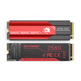BlitzWolf BW-NV4 M.2 NVMe Game SSD Solid State-schijf 256 GB NVMe1.3 PCIe 3.0x4 SSD Solid State-schijf