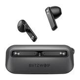 Écouteurs Bluetooth BlitzWolf® BW-FPE1 TWS 1.7CM Écouteurs portables ultra-fins 13mm Grand pilote HiFi Stéréo ENC Dual Mic Half in Ear Casque