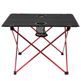 IPRee® 22×16.5×14.5inch Aluminium Alloy Camping Lightweight Picnic BBQ Square Folding Table