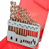 13PCS HSS Drilling Bits Twist Drill Bit With Box Titanium Nitride Coated 1.5-6.5mm Bits Set