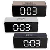 LED Miroir Réveil Multifonctionnel Étudiant Horloge De Bureau Maquillage Miroir Horloge USB De Charge Musique Réveil