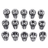 Machifit 15pcs ER11 1mm to 7mm Spring Collet Set  Collet Chuck for CNC Milling Lathe Tools