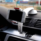 3 em 1 Clip-on Strong Sucker Car Wind Shield Dashboard Phone Holder Stand para iPhone 8 X Cell Phone